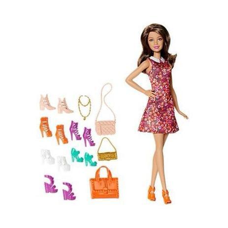 Imagem de Boneca Barbie Dreamhouse Morena Sapatos E Bolsa Top