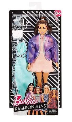 Imagem de Boneca Barbie Fashionista Morena Número 86 Moda - Mattel