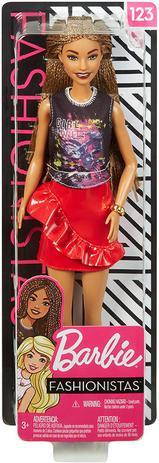 Imagem de Boneca Barbie Fashionistas 123 cabelo longo trançado