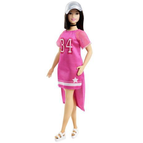 e5f06448d Boneca Barbie - Série Fashionista - Curvy - Vestido 84 Rosa - Mattel ...
