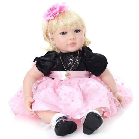 6e2ca6827d Boneca Bebe Reborn LBC 06A Menina Silicone Realista - Boneca Reborn ...