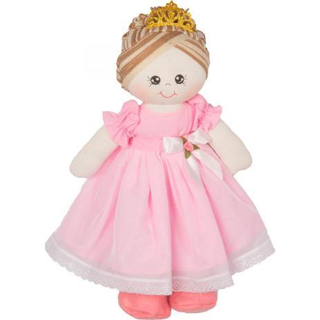 9b1d9f70e95644 Boneca de Pano Princesa Bela para Menina - Rosa - Mury baby