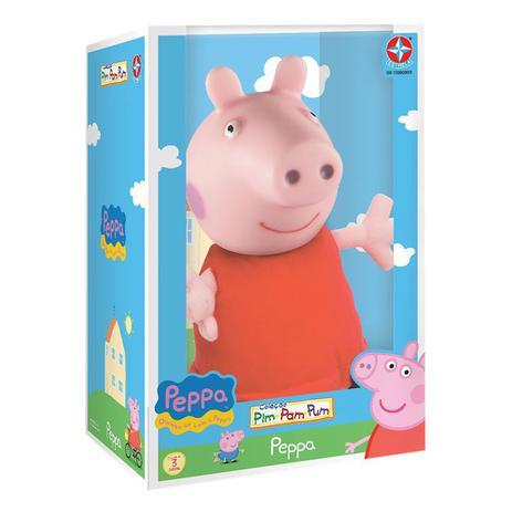 Boneca de Pelúcia Peppa Pig Cabeça de Vinil - Estrela -