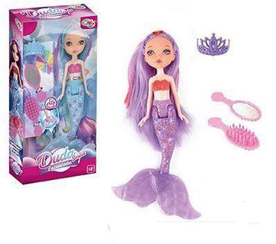 Imagem de Boneca Duda a Princesa Sereia Encantada com Luz e Vários Acessórios - 20 cm