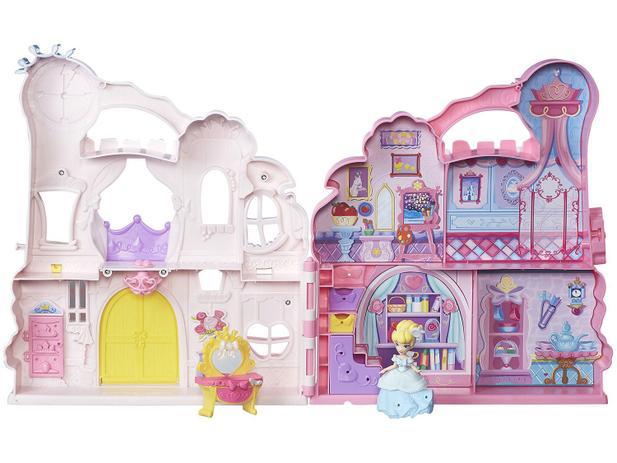 Boneca e Playset Playn Carry Castle - Princesas Disney Little Kingdo Hasbro