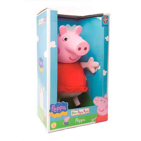 Boneca Peppa Pig Cabeça de Vinil Estrela Brinquedos EST-237 - Estrela