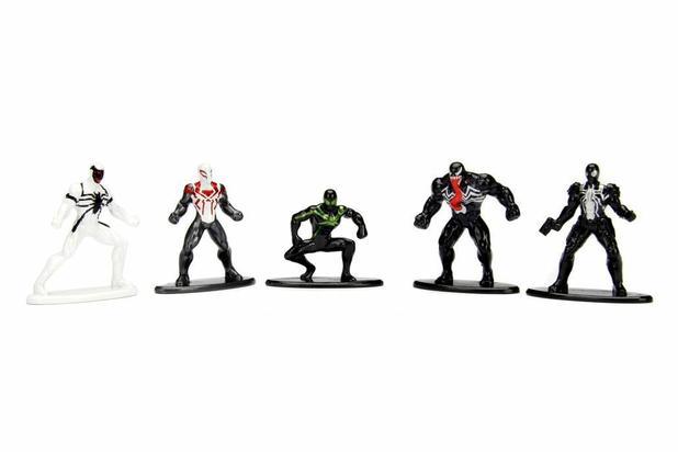Imagem de Boneco De Metal Nano Marvel Homem Aranha Pack Com 5 Jada 99253
