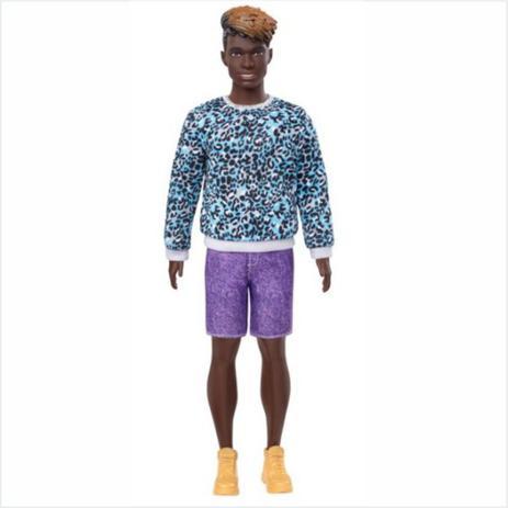 Imagem de Boneco Ken Fashionistas - 153 Cabelo Dreadloks Moleton Aninal Bermuda Roxo
