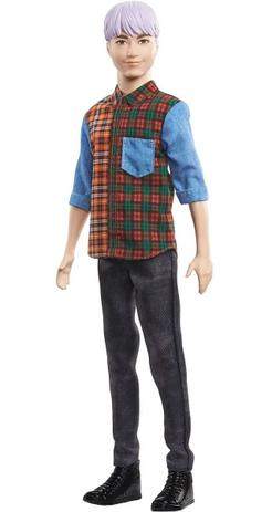 Imagem de Boneco Ken Fashionistas Xadrez e Calça Preta - Mattel