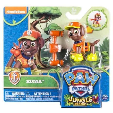 Boneco Patrulha Canina Jungle Rescue Zuma Sunny Bonecos