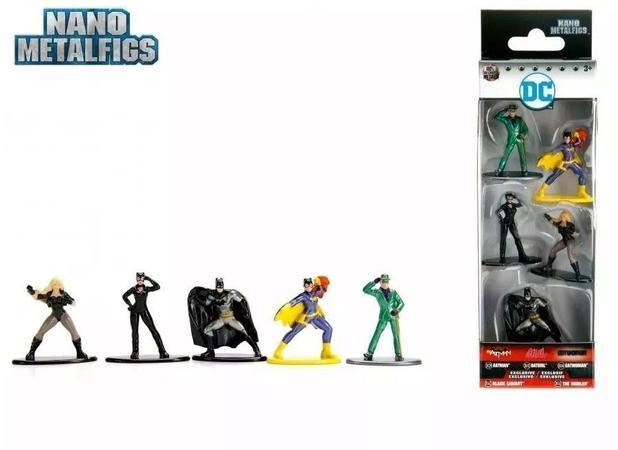 Imagem de Bonecos de Metal Jada Nano DC Comics Pack 5B