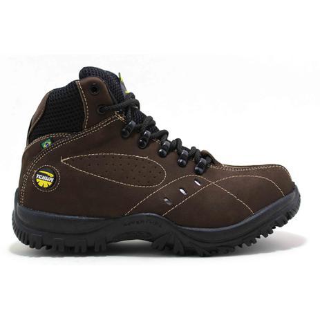 d6909cfb37b79 Bota Coturno Boots Adventure Masculino Couro Nobuck - CAFÉ - Tchwm shoes