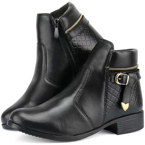 cfc9453718a Bota Coturno Feminino Ankle Boot Linha Outono Inverno 2019 - Dona beja