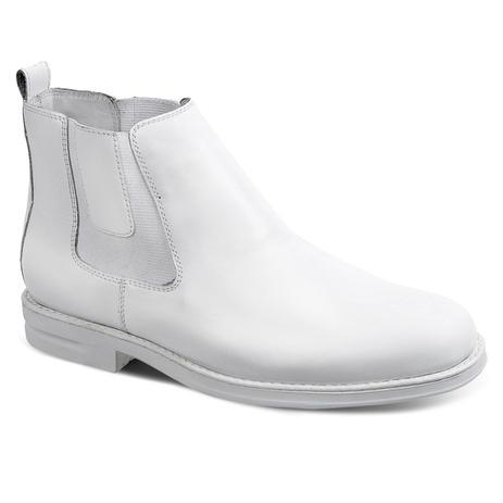 Bota masculina chelsea sandro moscoloni doctor boot branco white ... b232bd595d842