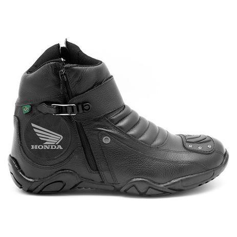 bc2c3808944 Bota Motociclista Cano Curto Preta Logo Honda 271 - Atron shoes ...
