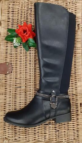 Imagem de Bota ramarim fem. com elastico cano longo