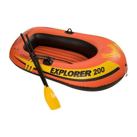 Imagem de Bote Inflável Explorer 200 (acessórios) Laranja e Preto 58331 Intex
