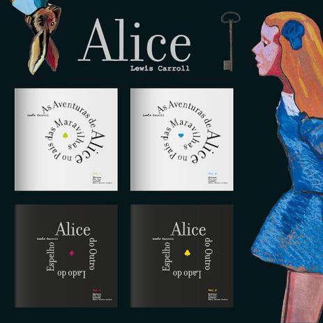 Imagem de Box As Aventuras de Alice no País das Maravilhas  Lewis Carroll 4 Volumes Importado Portugal