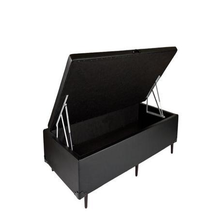 Imagem de Box Bau Solteiro Luxo 88 X 188 Poliester Preto