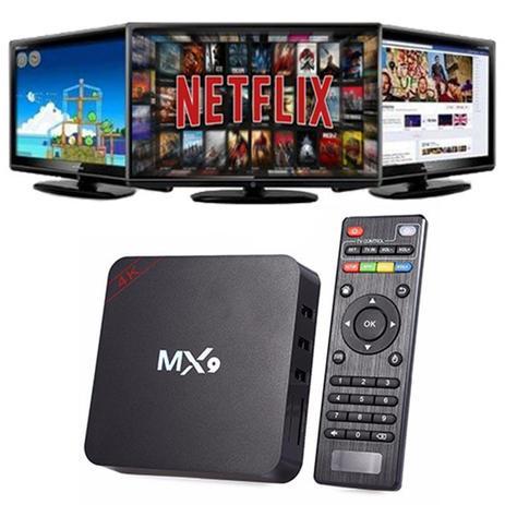 Imagem de Box transforma em Smart TV Mx9 6.0 Quadcore Android 4k Smart Media Player