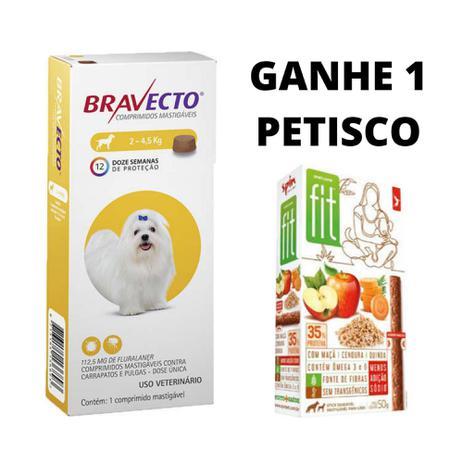 Imagem de Bravecto Antipulgas Carrapatos e Sarnas para Cães de 2 a 4,5kg 112,5mg