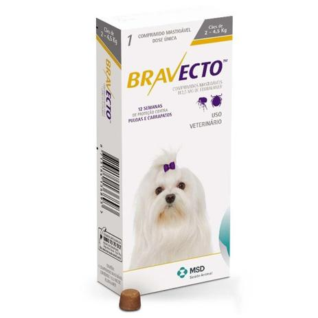 Imagem de Bravecto Comprimido Para Cães De 2 A 4,5kg