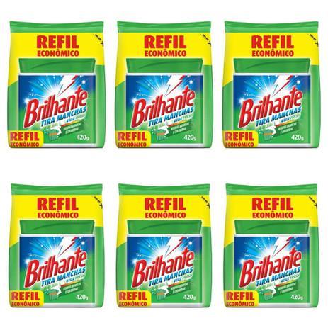 Imagem de Brilhante Antibacteriano Tira Manchas Refil 420g (Kit C/06)