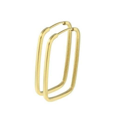 88df868836457 Brinco Argola Quadrada Retangular 2.7cm Em Ouro 18k 750 - Dr joias ...