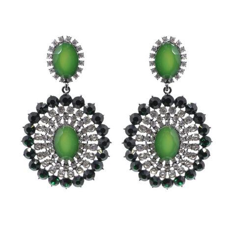 932dc608f Brinco de festa verde com pedraria - Click bolsas e bijuterias ...