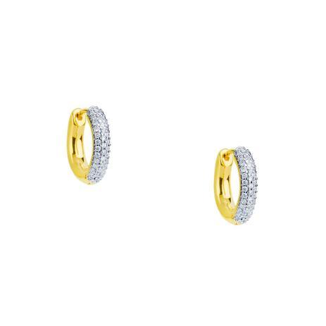 8dc51aaeb7734 Brinco de Ouro 18k Argola com Diamantes Menor br21141 - Joiasgold ...