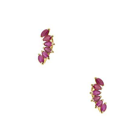 652cd1ba608a2 Brinco de Ouro 18k Ear Cuff com Rubi Navete br22333 - Joiasgold ...