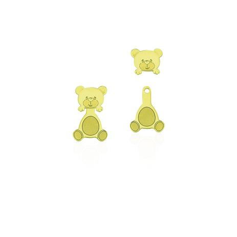 5add49f965a91 Brinco de Ouro 18k Infantil Urso Articulado br21155 - Joiasgold ...