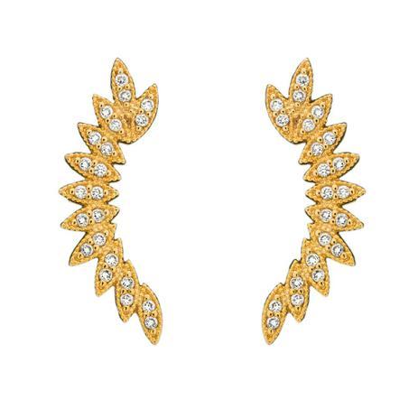 Brinco Ear Cuff Folhas Dourado - Drusi semi joias - Brinco ... c4834769c1