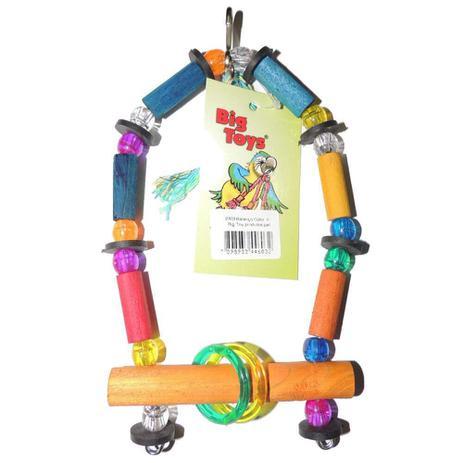 Imagem de Brinquedo Big Toy Para Pássaros Balanço Colorido - Tamanho P