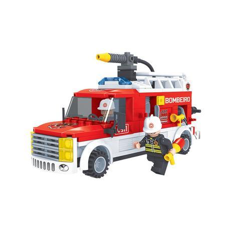 Imagem de Brinquedo Caminhão Bombeiro para Montar com 207 Pcs