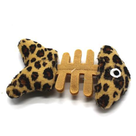 7ffcb4384 Brinquedo de Pelúcia Peixinho com Catnip Para Gato PetFit Bege e Preto -  Petfitstore