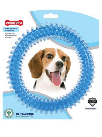 Imagem de Brinquedo Dental Bone Argola Azul Cães Mordida Moderada até 15 Kg Odontopet