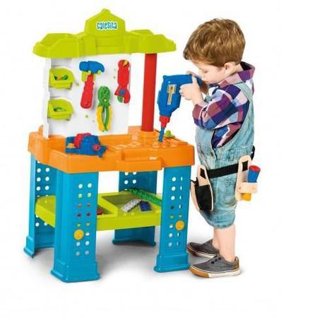 Brinquedo Infantil Bancada De Trabalho Com Ferramentas Calesita