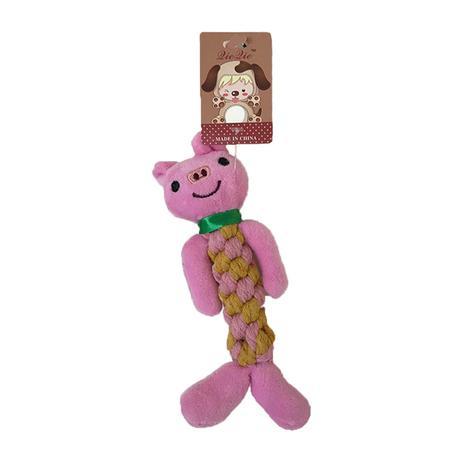 Imagem de Brinquedo Mordedor Corda Porco Para Cães