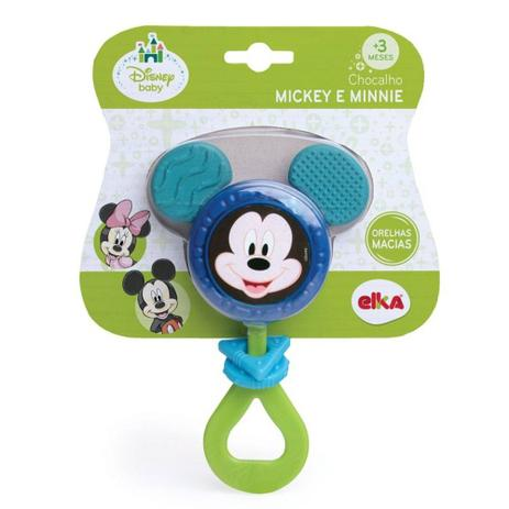 7a0f7baed Brinquedo Para Bebe Mickey Chocalho 1059 Elka - Chocalho para Bebê ...