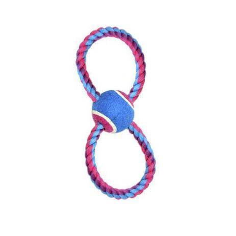 Imagem de Brinquedo Para Cachorro Bola Tênis Com Corda 8 Rosa