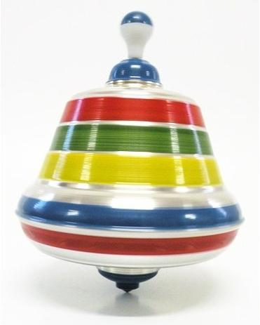Imagem de Brinquedo Retrô Pião Sonoro Grande De Alumínio - Anos 80 Imc
