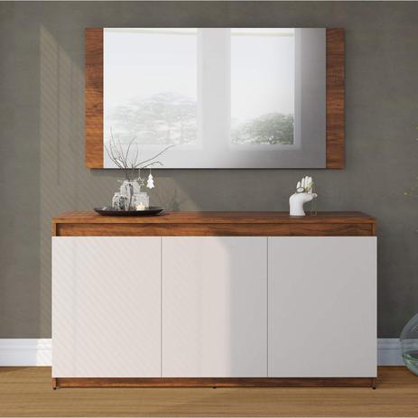 Imagem de Buffet 3 Portas com Moldura Painel Miriam Espresso Móveis Pinho/Off White