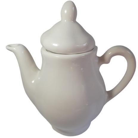 Imagem de Bule Chá Café de Porcelana Branca