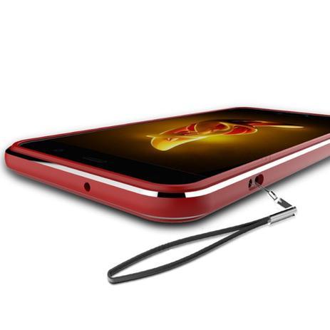 Imagem de Bumper Lateral Motorola Moto Z2 Play Aluminio Lenovo Vermelho