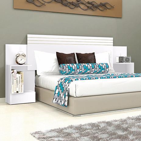f509e82914 Menor preço em Cabeceira Casal e Queen 2 Criados Mudos Londres Leifer Branco