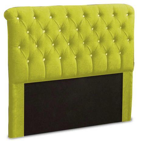 Imagem de Cabeceira Casal Estofada Alice 140 cm Suede Amarelo