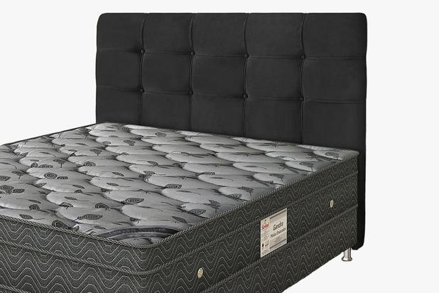 4d0b3a993c Cabeceira Para cama Box Solteiro Clean 920mm - Suede Negro - Simbal ...