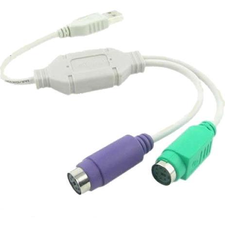 Imagem de Cabo Adaptador Hitto PS2 para USB ( Teclado e Mouse )