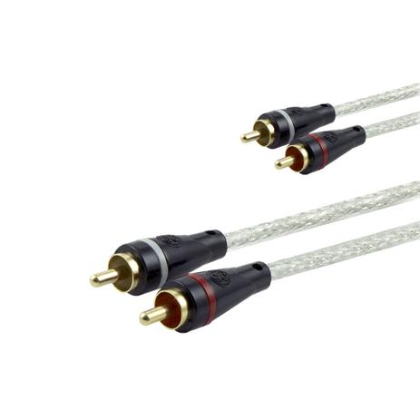 Imagem de Cabo de Áudio RCA GE 1,80m Ultra Resistente e Conector Banhado a Ouro